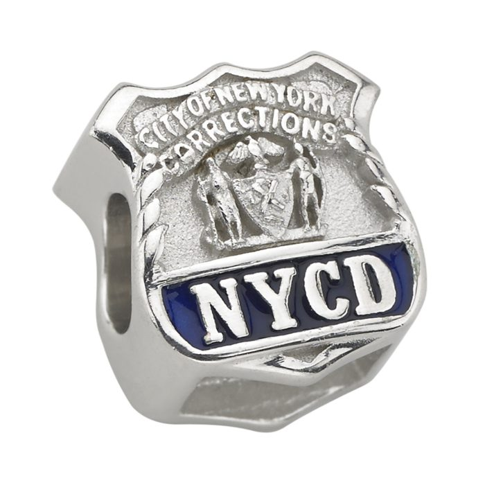 City of New York Corrections - NYCD Charm - Fits Pandora Bracelet - Sterling Silver 1