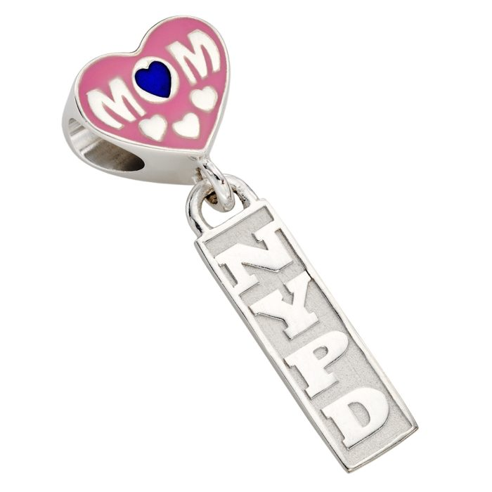 NYPD Mom Charm - Fits Pandora Bracelets - Sterling Silver 1