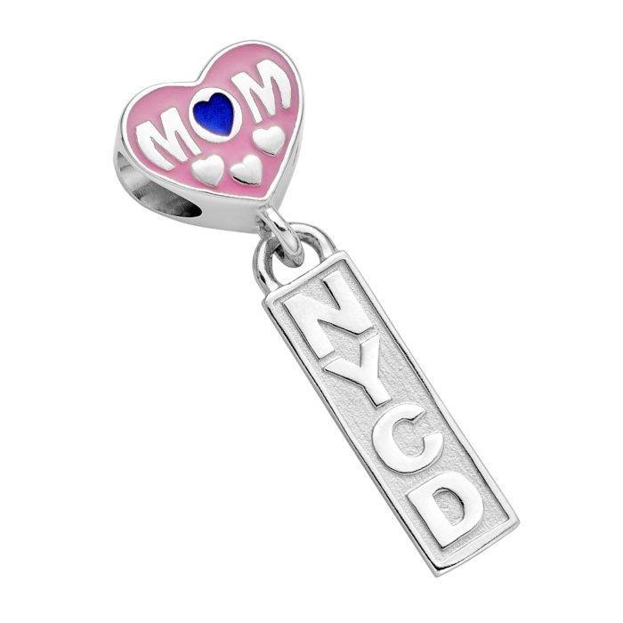 City of New York Corrections Mom Charm - NYCD Mom Charm - Fits Pandora Bracelets - Sterling Silver 1