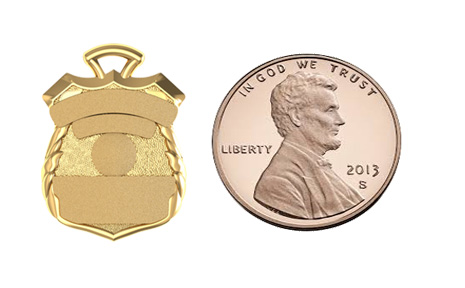 Custom 5 Point Sheriff's Style Shield  - Penny Size Pendant 4