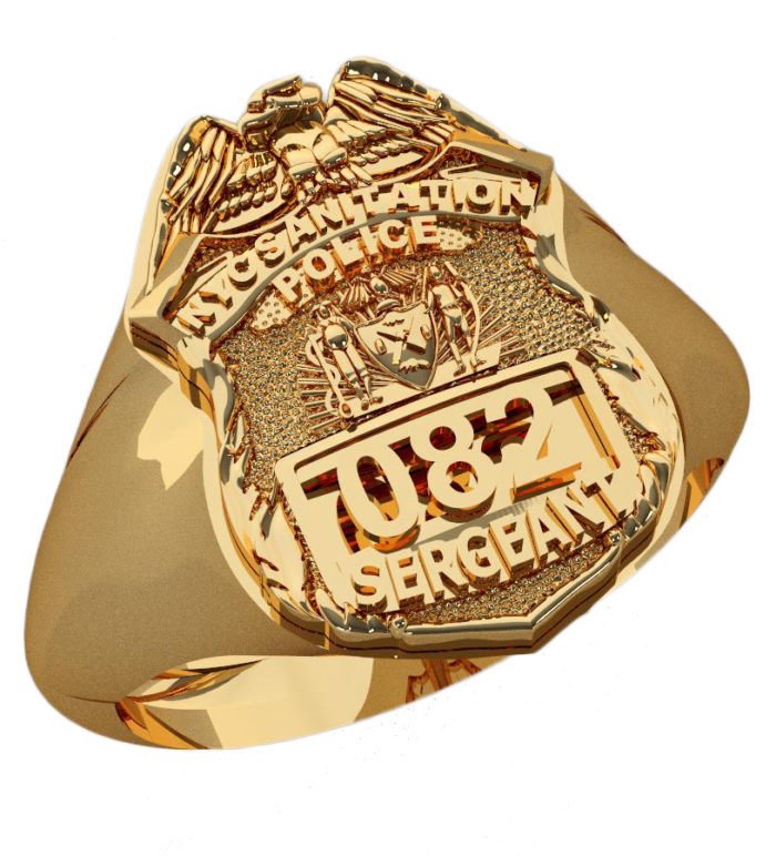 DSNY Sergeant Shape of the Shield Ring 1