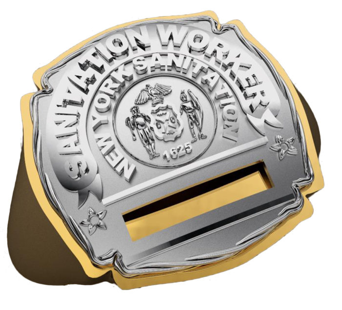 DSNY Sanitation Worker Shape of the Shield Ring 1