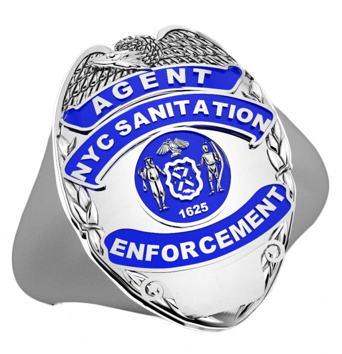 DSNY Enforcement Agent Shape of the Shield Ladies Ring 1