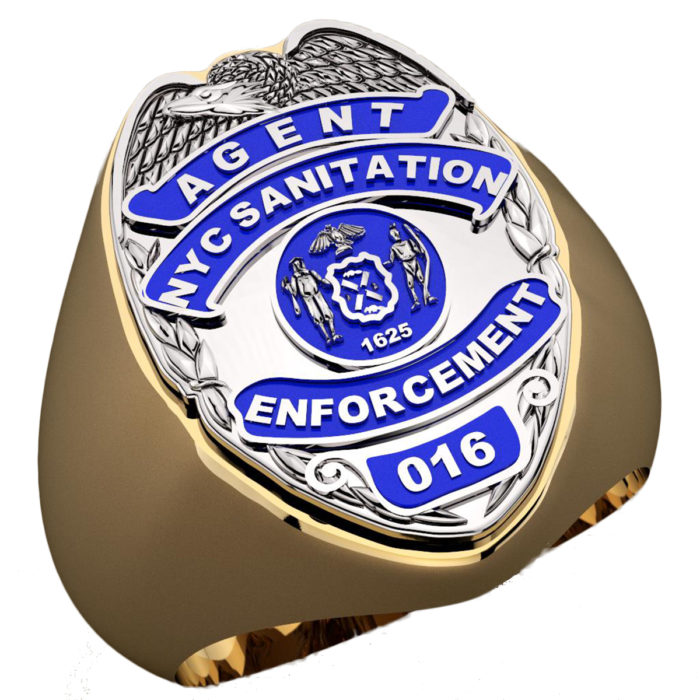 DSNY Enforcement Agent Shape of the Shield Ring 1