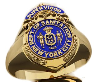 DSNY Supervisor Shape of the Shield Ladies Ring 1