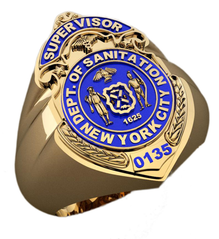 DSNY Supervisor Shape of the Shield Ring 1