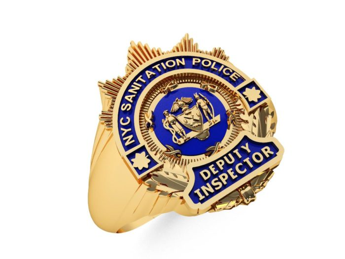 DSNY Deputy Inspector Shape of the Shield Ladies Ring 1