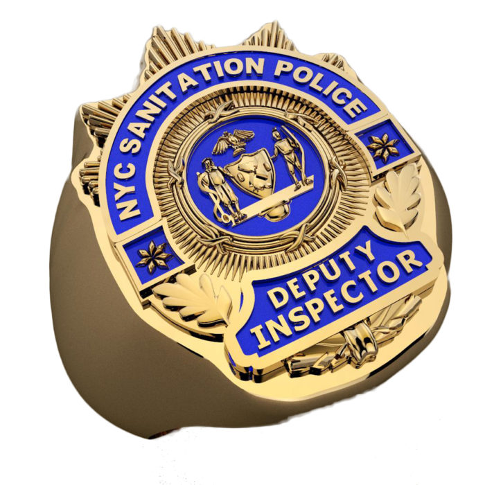 DSNY Deputy Inspector Shape of the Shield Ring 1