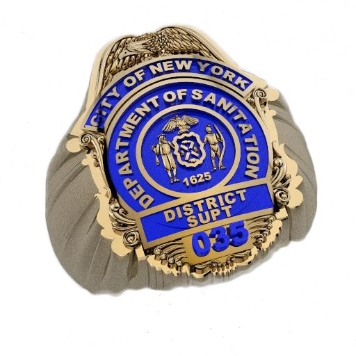 DSNY District Superintendent Shape of the Shield Ring 1