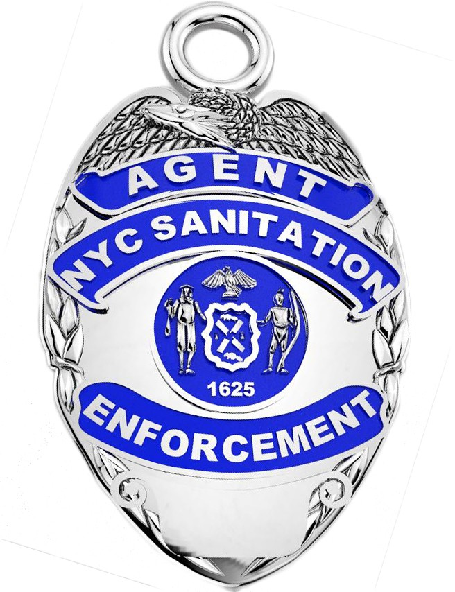 DSNY Enforcement Agent - Nickel Size Pendant 1