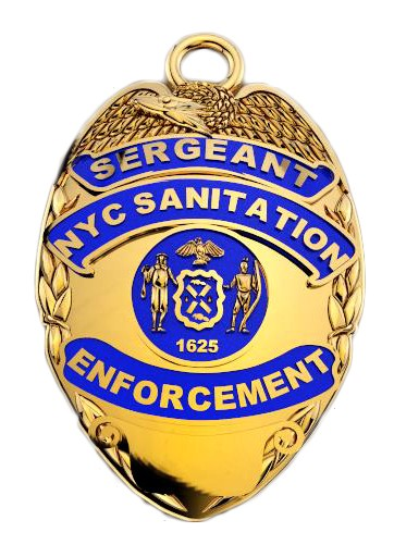 DSNY Enforcement Sergeant - Quarter Size Pendant 1