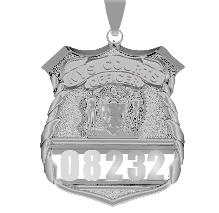 NYS Court Officer - Nickel Size Pendant 1