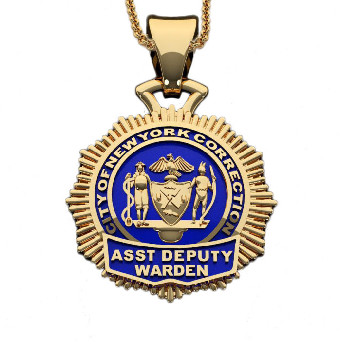 NYC Dept. of Corrections Assistant Warden - Penny Size Pendant 1