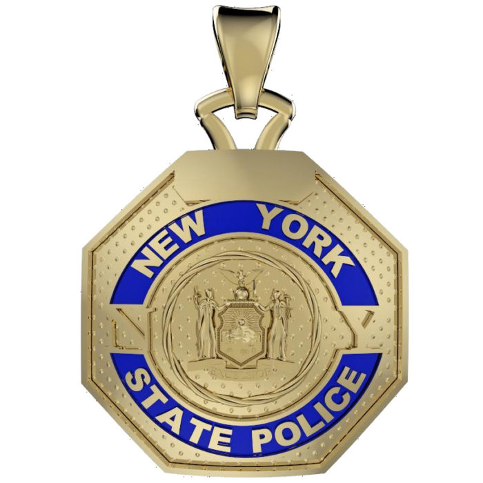 NY State Trooper - Nickel Size Pendant 1