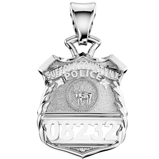 Suffolk County PD Police Officer Pendant - Nickel Size Pendant 1