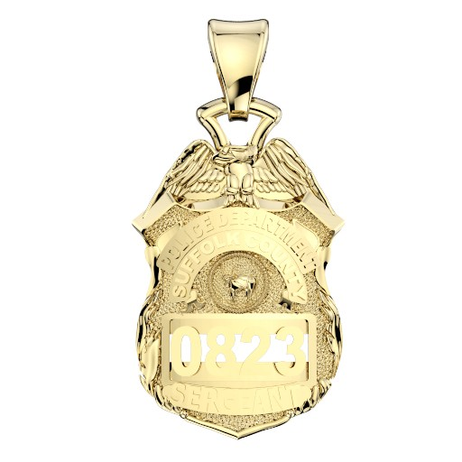 Suffolk County PD Sergeant Pendant - Nickel Size Pendant 1