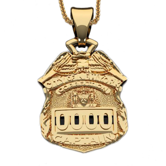 NYC Dept. of Corrections Captain - Penny Size Pendant 1