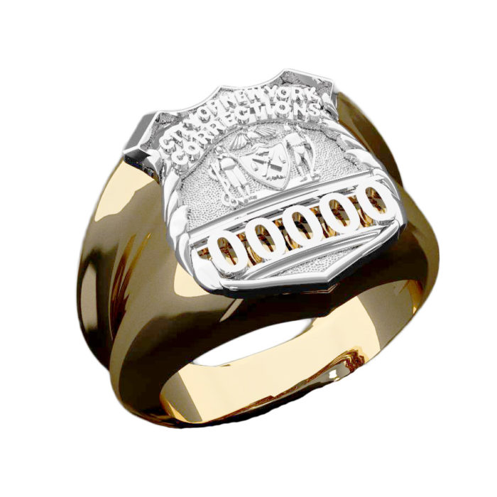 NYC Dept. of Corrections PO Shape of the Shield Ring 1
