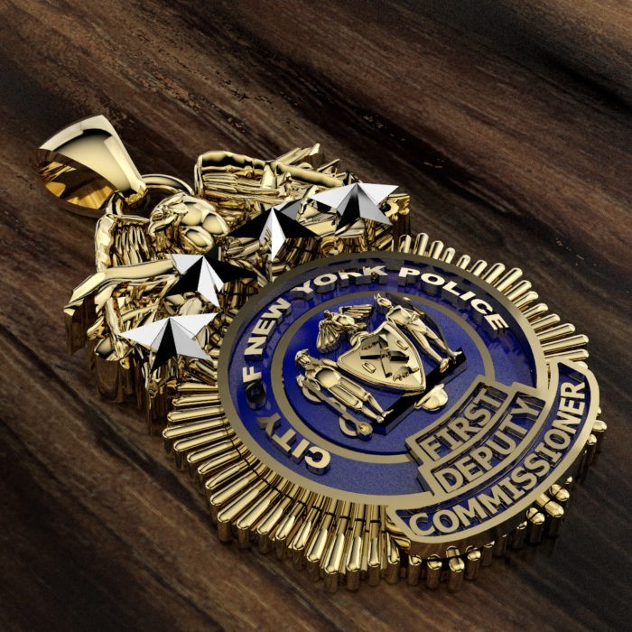 NYPD First Deputy Commissioner Pendant  - Nickel Size 3