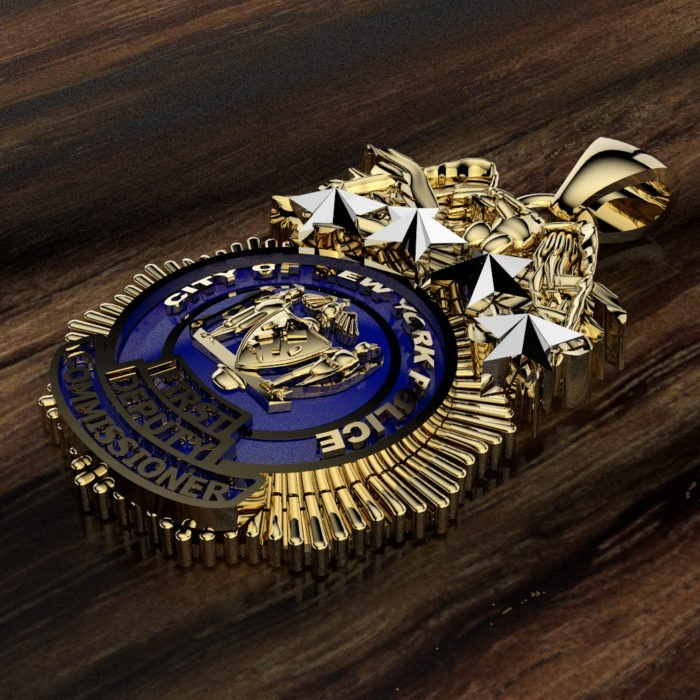 NYPD First Deputy Commissioner Pendant  - Nickel Size 2