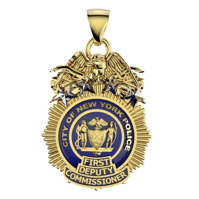 NYPD First Deputy Commissioner Pendant  - Nickel Size 1