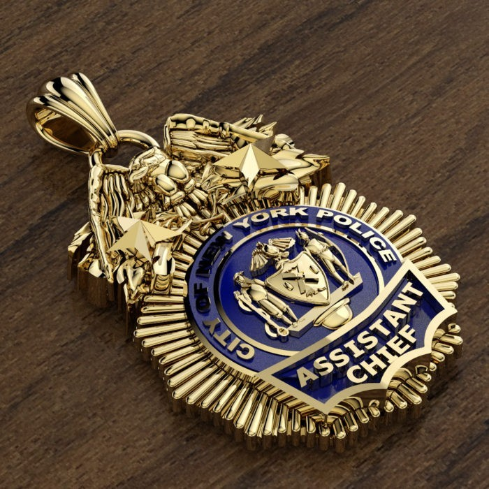 NYPD Assistant Chief Pendant - Quarter Size 2