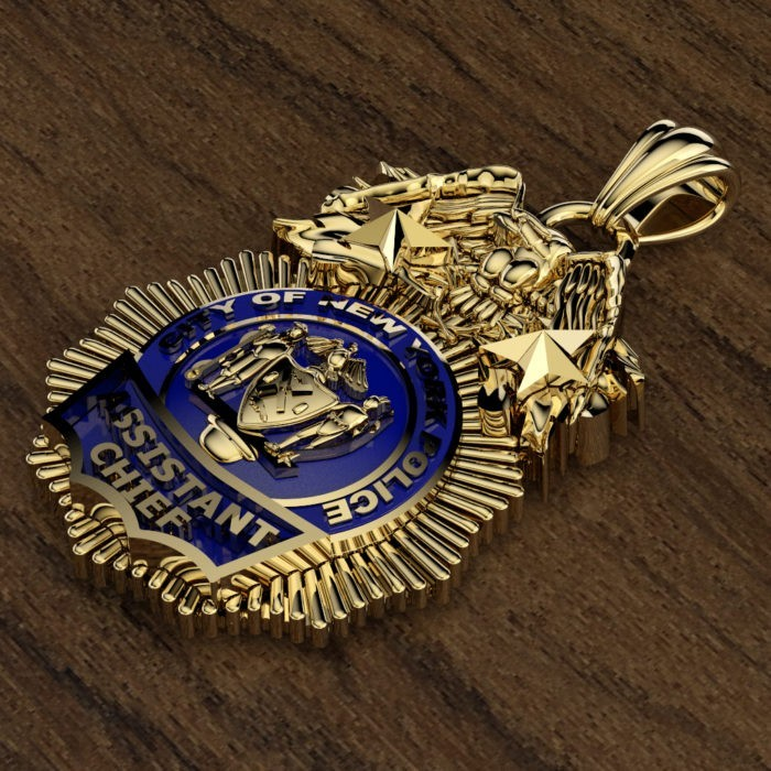 NYPD Assistant Chief Pendant - Quarter Size 3