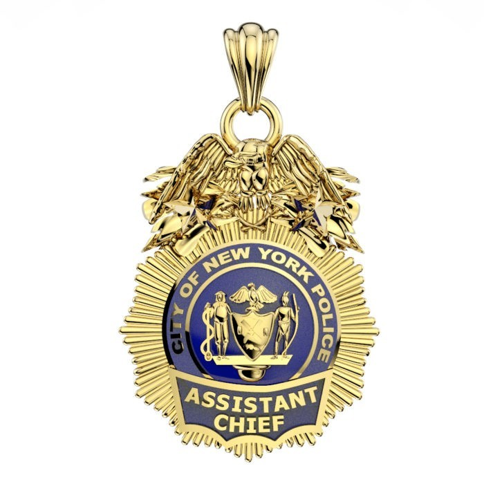 NYPD Assistant Chief Pendant - Quarter Size 1