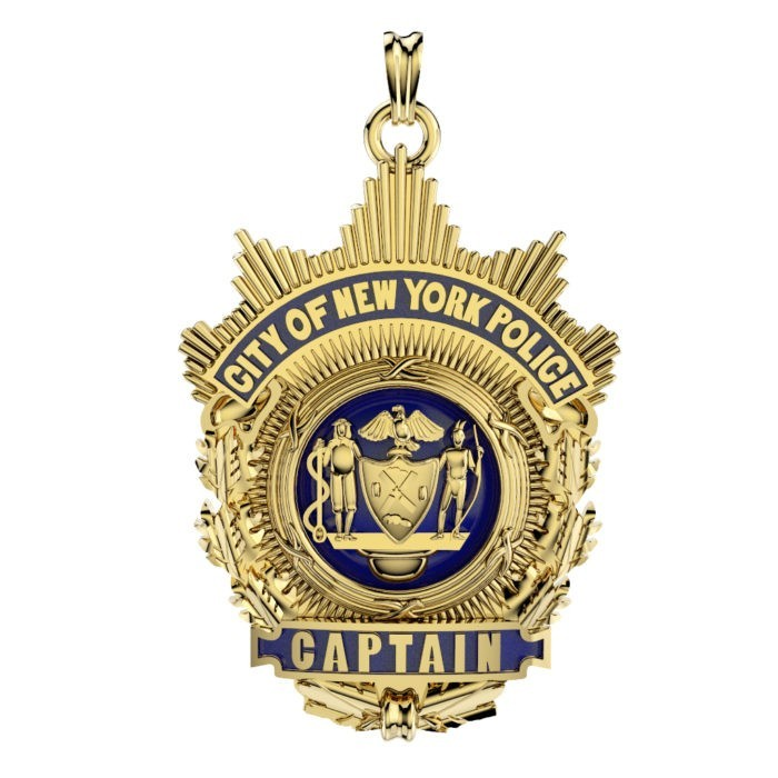 NYPD Captain Pendant  - Nickel Size 1