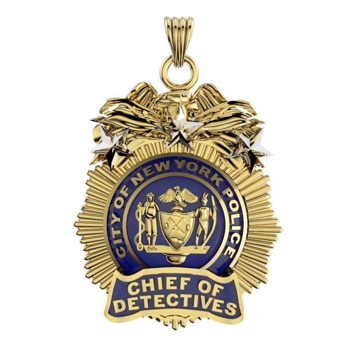 NYPD Chief of Detectives Pendant  - Nickel Size 1