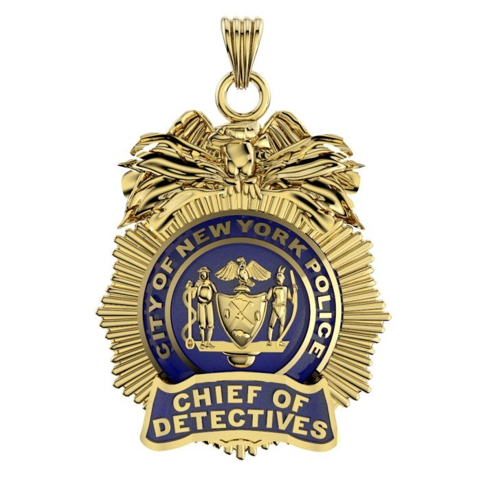 NYPD Chief of Detectives Pendant - Quarter Size 1