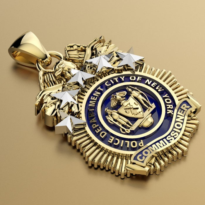 NYPD Commissioner Pendant - Penny Size 2