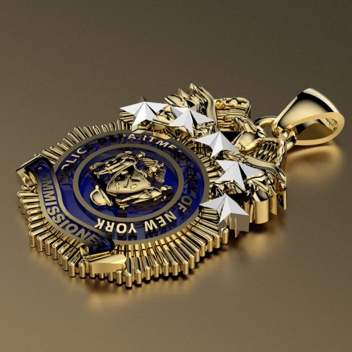 NYPD Commissioner Pendant - Penny Size 3