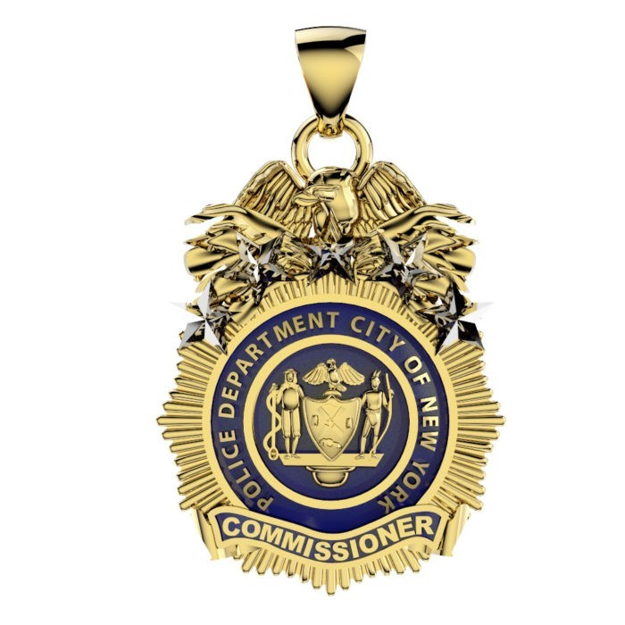 NYPD Commissioner Pendant - Penny Size 1