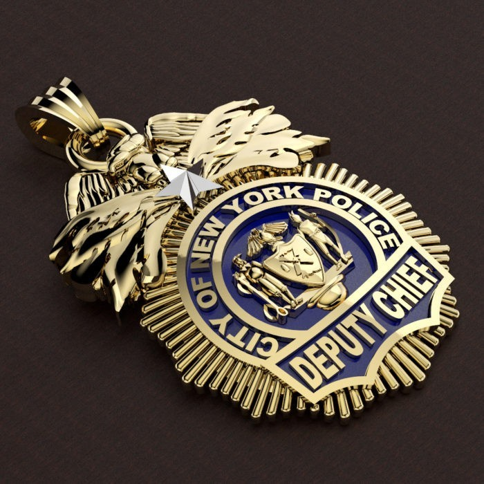 NYPD Deputy Chief Pendant - Quarter Size 2
