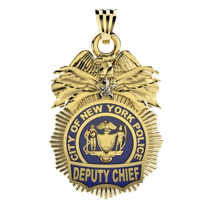 NYPD Deputy Chief Pendant - Quarter Size 1