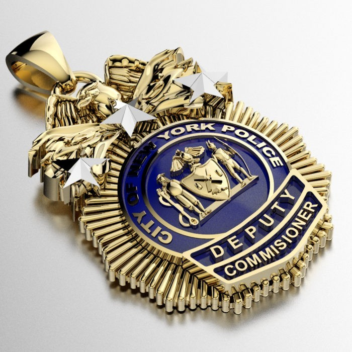 NYPD Deputy Commissioner Pendant - Quarter Size 3