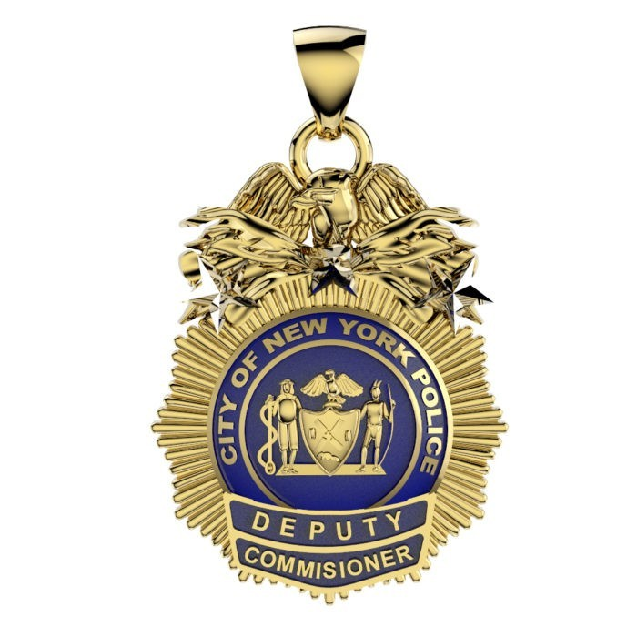 NYPD Deputy Commissioner Pendant - Quarter Size 1