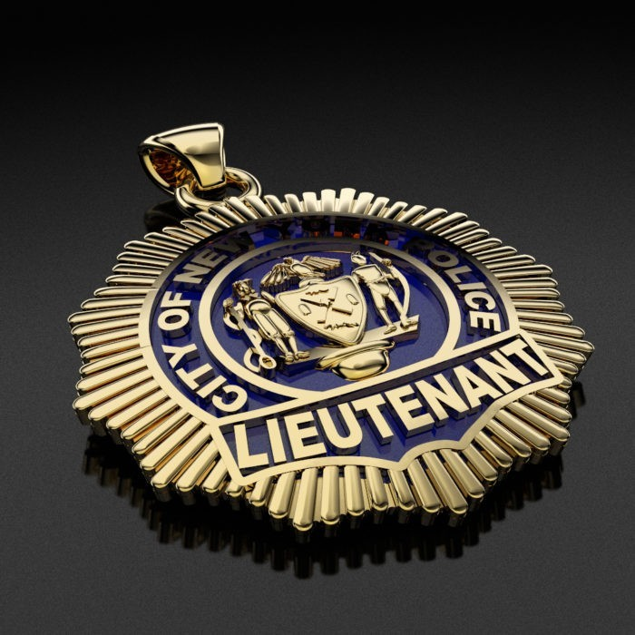 NYPD Lieutenant Pendant - Penny Size 2