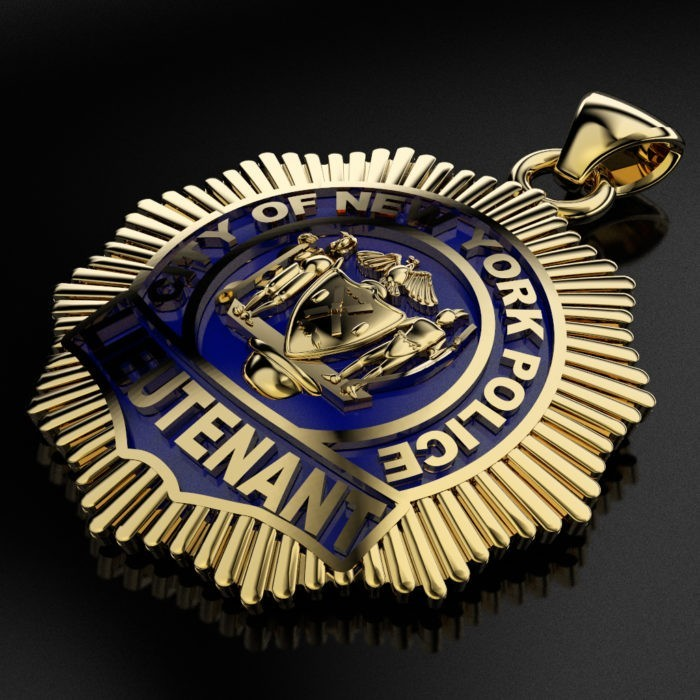 NYPD Lieutenant Pendant - Penny Size 3