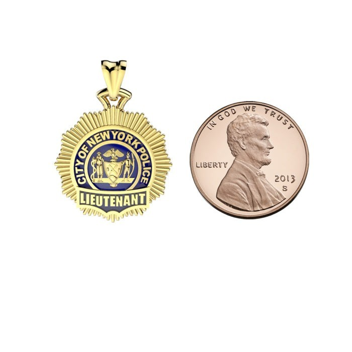 NYPD Lieutenant Pendant - Penny Size 5