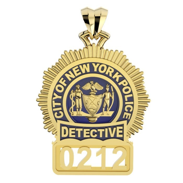 NYPD Detective Pendant - Penny Size 1