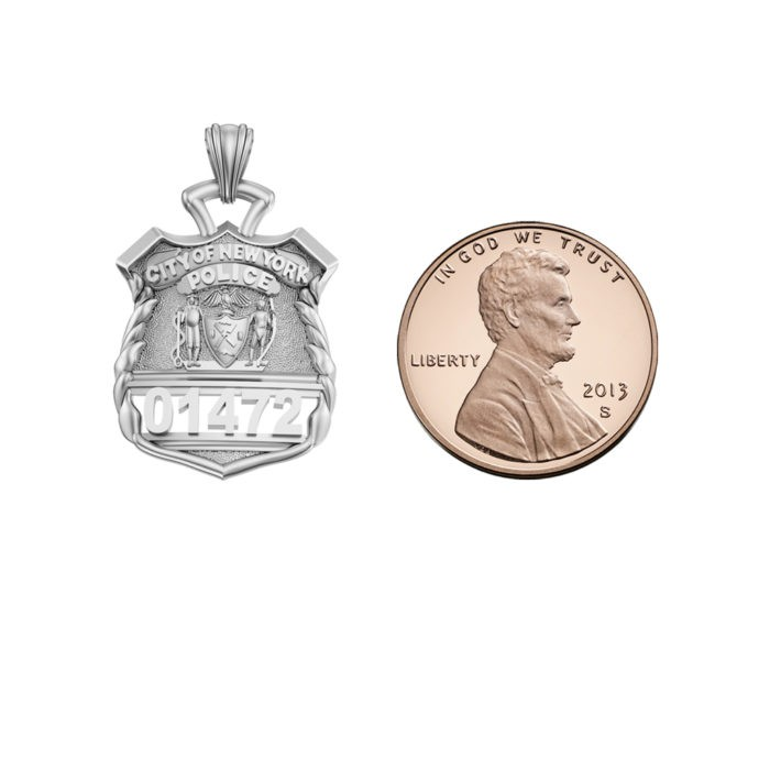 NYPD Police Officer Pendant  - Penny Size 5