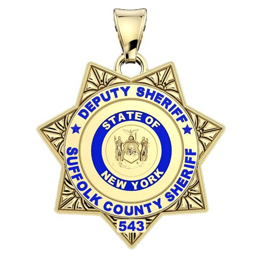 Suffolk County PD Deputy Sherriff - Quarter Size Pendant 1