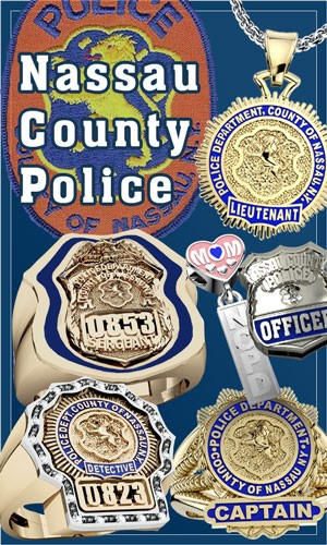 Mens Silver Gold Police Officer Deparment Ring