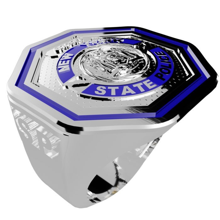 Men's New York State Police Thin Blue Line Ring 5